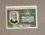 Stamps São Tomé and Príncipe -  1er Centenario fundación Banco Nacional ultramarino