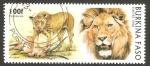 Sellos del Mundo : Africa : Burkina_Faso : león pantera