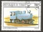 Sellos del Mundo : Africa : Chad : locomotora