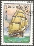 Stamps Africa - Tanzania -  Barco battle ship