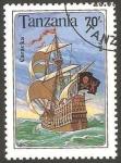 Sellos de Africa - Tanzania -  Barco carabela
