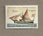 Stamps Mozambique -  Navíos a vela
