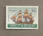 Sellos de Africa - Mozambique -  Navíos a vela
