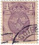 Stamps Sweden -  El escudo de las tres coronas