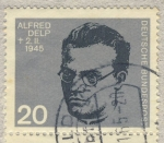 Stamps Germany -  Alfred Delp 2-11-1945