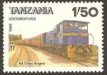 Stamps : Africa : Tanzania :  Locomotora, 64 Class Engine