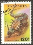Stamps Africa - Tanzania -  dinosaurio stiracosaurus