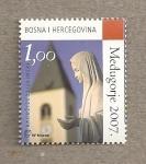 Sellos de Europa - Bosnia Herzegovina -  Virgen María junto iglesia