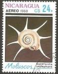 Sellos de America - Nicaragua -  molusco, guildfordia triumphans