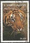 Stamps São Tomé and Príncipe -  tigre