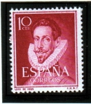 Stamps Europe - Spain -  1950-53 Literatos: Lope de Vega. Edifil 1072