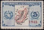 Stamps Guatemala -  Escudo de Armas y Mapa