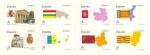 Stamps : Europe : Spain :  ESPAÑA 2010 4524/31 Sellos Nuevos Banderas y Mapas Autonomias