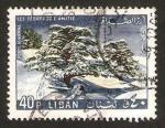 Sellos del Mundo : Asia : Líbano : arbol, cedro