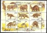 Stamps Africa - Guinea -  dinosaurios