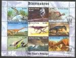 Sellos del Mundo : Africa : Santo_Tomé_y_Principe : dinosaurios