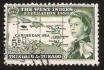 Sellos del Mundo : America : Trinidad_y_Tobago : islas en el mar caribe, e isabel II