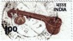 Stamps India -  El sitar instrumento musical indio