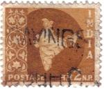 Stamps India -  Mapa de India