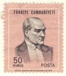 Stamps Turkey -  Mustafa Kemal Atatürk Presidente de Turquía