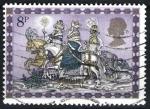 Sellos del Mundo : Europa : Reino_Unido : Reyes Magos a caballo.