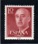 Stamps Spain -  1955 General Franco Edifil 1143
