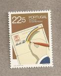 Sellos de Europa - Portugal -  100 años de correo postal