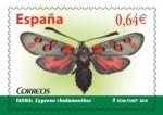 Stamps : Europe : Spain :  ESPAÑA 2010 4535 Sello Nuevo Flora y Fauna Mariposas Zygaena Rhadamanthus