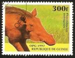 Stamps Guinea -  fauna, phacochoerus aethiopicus