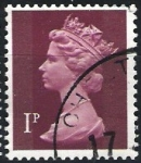 Sellos de Europa - Reino Unido -  Isabel II   ( con franjas )