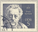 Stamps Germany -  DDR Ernst Barlach 1870-