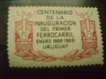 Sellos del Mundo : America : Uruguay :  centenario ferrocarril