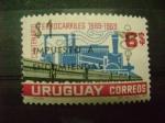 Sellos del Mundo : America : Uruguay :  centenario ferrocaril uruguay