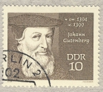 Stamps Germany -  DDR Johann Gutenberg  zw1394-1399