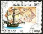 Stamps : Asia : Laos :  barco, genova