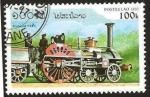 Stamps : Asia : Laos :  locomotora