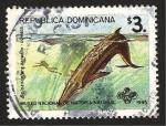 Sellos del Mundo : America : Rep_Dominicana :  fauna, baloenoptera borealis