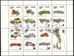 Stamps : Asia : Oman :  Automóviles de época