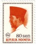 Sellos de Asia - Indonesia -  Achmed Sukarno. Primer presidente de la República