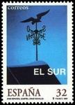 Sellos del Mundo : Europa : España : ESPAÑA 1997 3473 Sello Nuevo Cine Español El Sur de Victor Erice Cartel Cruz Novillo