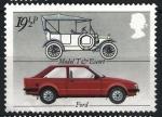 Sellos del Mundo : Europa : Reino_Unido : automóviles, antiguos y modernos. Ford.