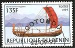 Stamps Africa - Benin -  nave de vela egipcia