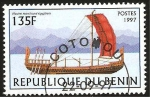 Stamps Benin -  nave de vela egipcia