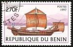 Stamps Benin -  nave de vela romana