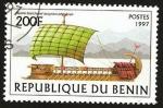 Stamps Africa - Benin -  nave de vela sirio fenicia
