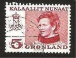Stamps Europe - Greenland -  reina margarita II