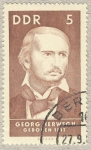 Stamps Germany -  DDR Georg Herwegh 1817