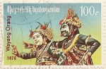 Sellos de Asia - Indonesia -  WAYANG ORANG