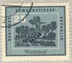 Stamps Germany -  DDR Wiedehopf  Abubilla