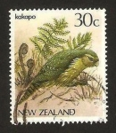 Stamps New Zealand -  ave strigops habroptilus